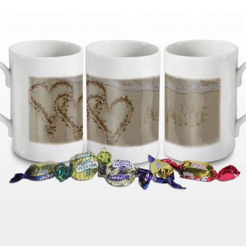 Personalised Sand Heart Windsor Mug